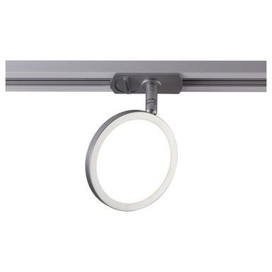 famlights | 1 Phasen Spot Vito in Silber mit Leuchtmittel