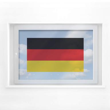 Fensterbild Deutschlandflagge