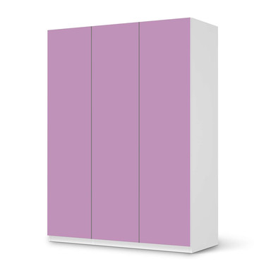 Folie IKEA Pax Schrank 201cm Höhe - 3 Türen - Flieder Light