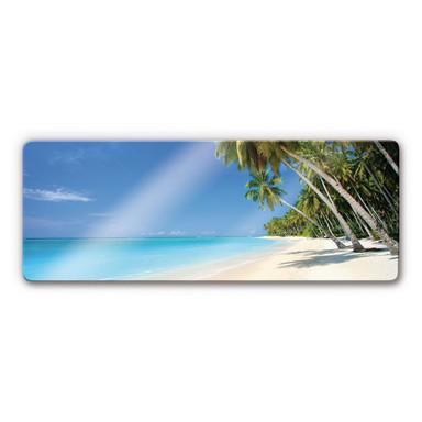 Glasbild Paradise Panorama