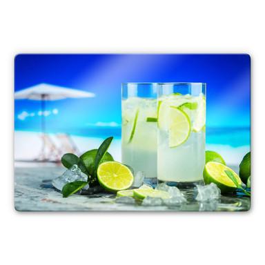 Glasbild Tropical Lime