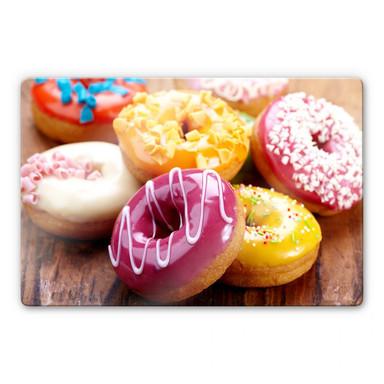 Glasbild Zuckersüsse Donuts