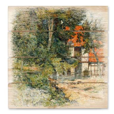 Holzbild Gauguin - Bauernhaus in der Normandie