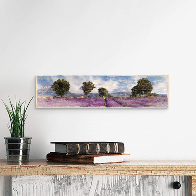 Holzschild Lavendelfeld