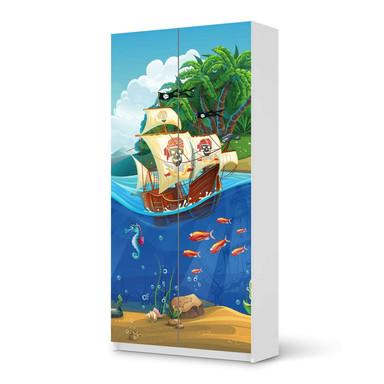 Klebefolie IKEA Pax Schrank 201cm Höhe - 2 Türen - Pirates