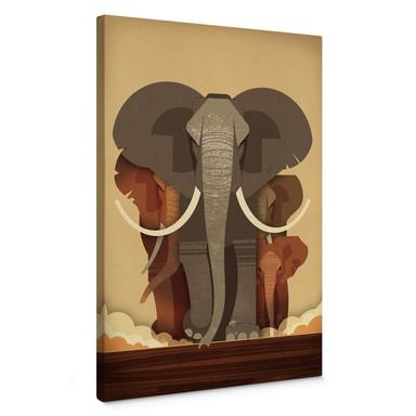 Leinwandbild Braun - Elephants