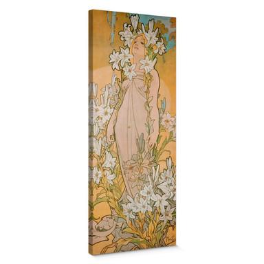 Leinwandbild Mucha - Die Lilie