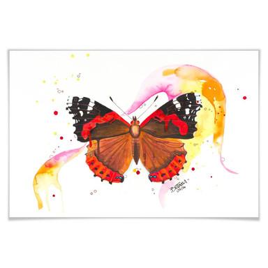 Poster Buttafly - Vanessa Athalanta