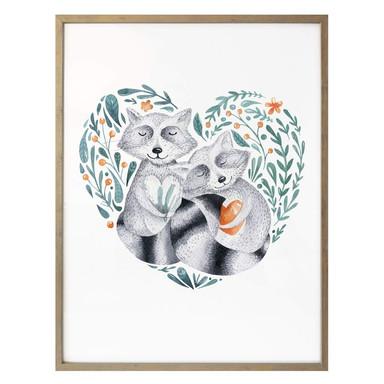 Poster Kvilis - Waschbärliebe