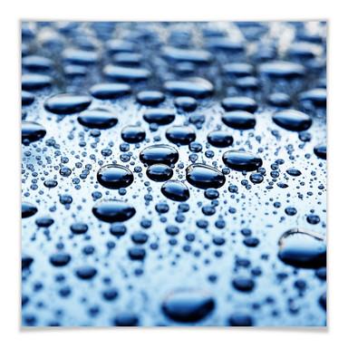 Poster Waterdrops - quadratisch