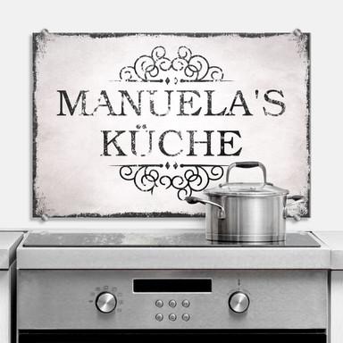 Spritzschutz Spritzschutz + Wunschtext Shabby Küche