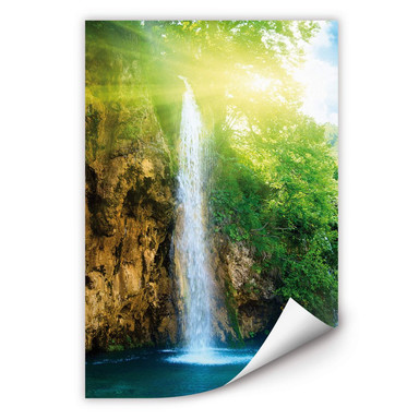 Wallprint Blue Waterfall