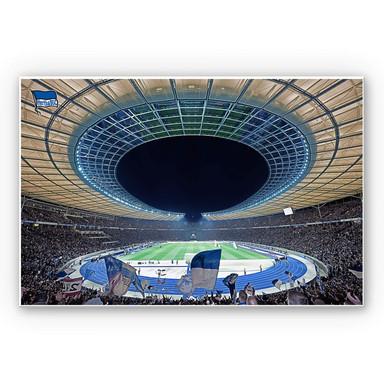 Wandbild Hertha BSC - Stadion bei Nacht