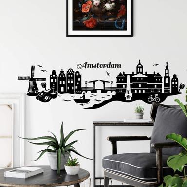 Wandtattoo Amsterdam Skyline