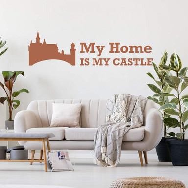 Wandtattoo My Home is my Castle 2
