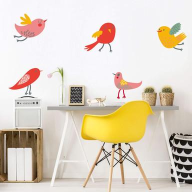 Wandtattoo Vögelchen Set