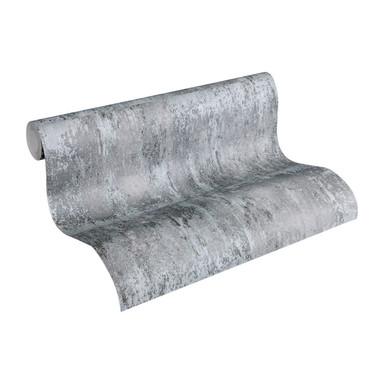 A.S. Création Vliestapete Materials grau, metallic, schwarz