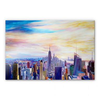 Acrylglasbild Bleichner - Blick über New York City