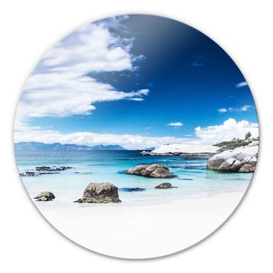 Glasbild Western Cape - rund