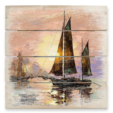 Holzbild Sailing Boat