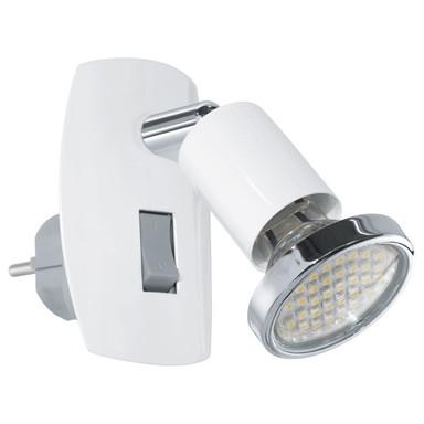 LED Steckdosenspot, Einzelspot, weiss