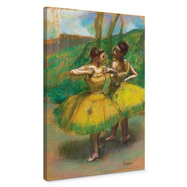 Leinwandbild Degas - Zwei Tänzerinnen in gelb
