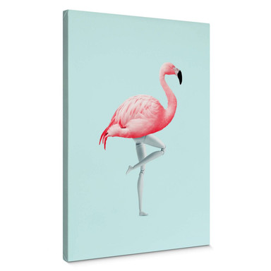 Leinwandbild Loose - Flamingo Mannequin