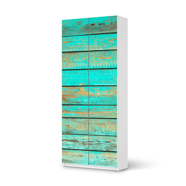 Möbelfolie IKEA Pax Schrank 236cm Höhe - 2 Türen - Wooden Aqua