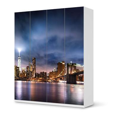 Möbelfolie IKEA Pax Schrank 236cm Höhe - 4 Türen - Brooklyn Bridge
