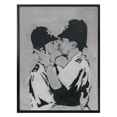 Poster Banksy - Kissing Policemen