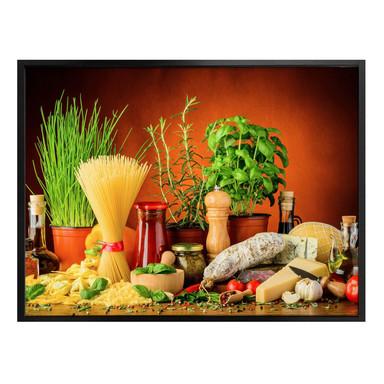 Poster Italienisch Kochen