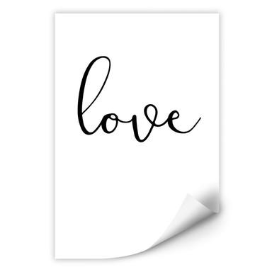 Wallprint Handwritten Love