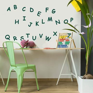 Wandtattoo Alphabet