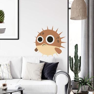 Wandtattoo Emoji Kugelfisch