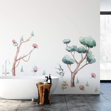 Wandtattoo Kvilis - Pflanzenwelt Australien (15-teilig) - 140x100cm - Bild 1