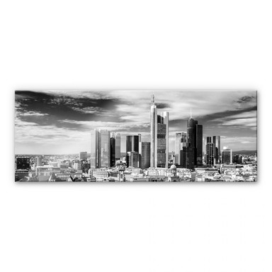 Acrylglasbild Frankfurter Skyline - Panorama