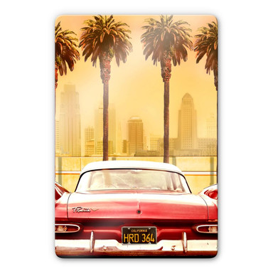 Glasbild Butterworth - Oldtimer in Los Angeles