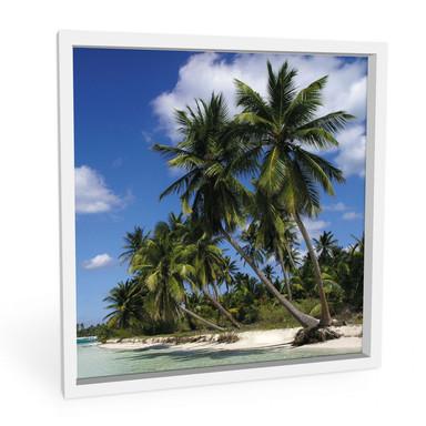 Hartschaumbild Carribean Flair - quadratisch
