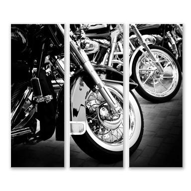 Hartschaumbild Motorcycle Wheels (3-teilig)