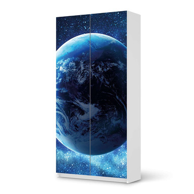 Klebefolie IKEA Pax Schrank 201cm Höhe - 2 Türen - Planet Blue