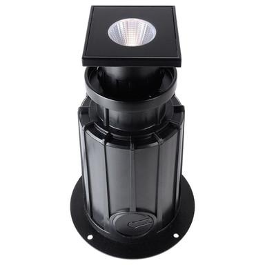 LED Bodeneinbaustrahler NC COB I Eckig in Schwarz und Transparent 5W 520lm IP67