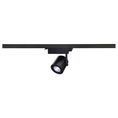 LED Spot Supros für 3Phasen-Stromschiene, 4000K, schwarz, 2100 lm, 60° Reflektor, 28W, inkl. 3Phasen-Adapter