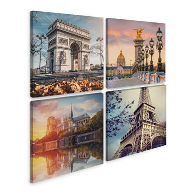 Leinwandbild Paris (4-teilig)