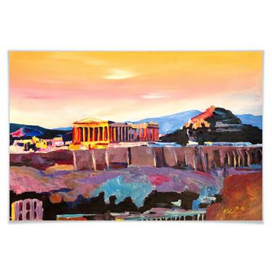 Poster Bleichner - Akropolis in Athen