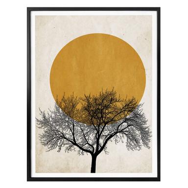 Poster Kubistika - Wintermorgen