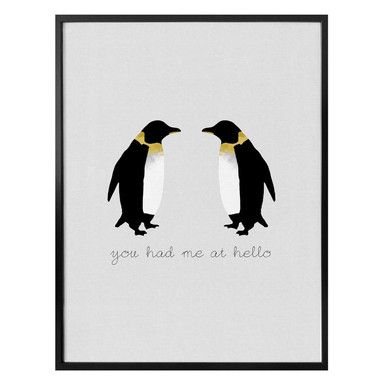 Poster Orara Studio - You had me at hello penguin