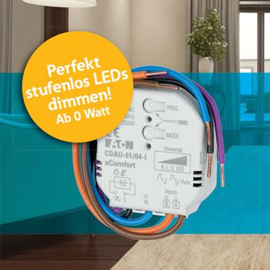 Stufenloser Universal-Smart-Dimmer, LED, Halogen, Energiespar, max. 250 W, 230 V