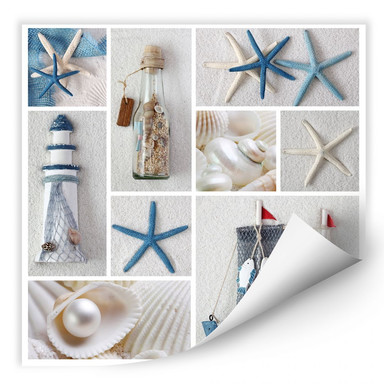 Wallprint Beach Collage