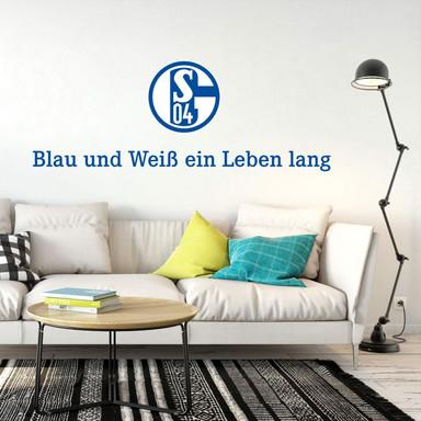 Wandsticker Schalke 04 Blau und Weiss ein Leben lang