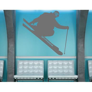 Wandtattoo Wunschtext Skifahren